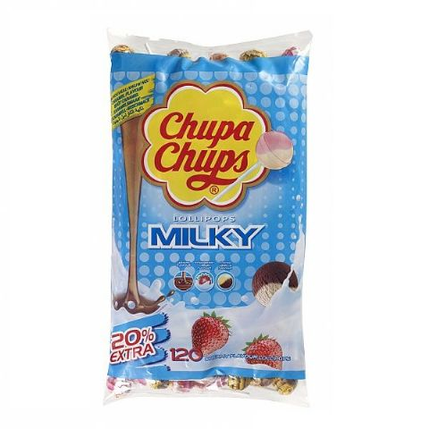 120 x MILKY Chupa Chups Lollipops Sweets Lollies 12g Each Wholesale Refill Bag